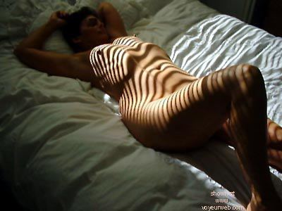 Pic #2 - Molly      shows her stripes