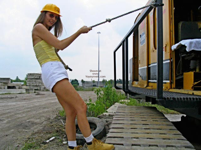 Pic #1 - Robin Playing With Heavy Equipment  1