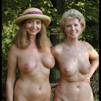 Two Nude Women - Full Nude, Nipple Ring, Nude Outdoors, Two Women
