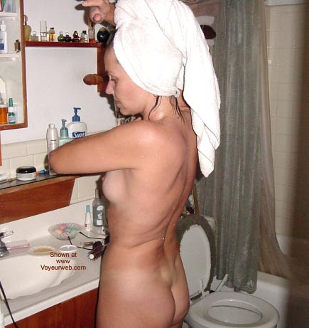Pic #3 - Work In Panties - Then Hit The Shower