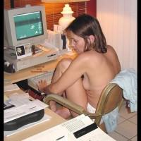 Work In Panties - Then Hit The Shower