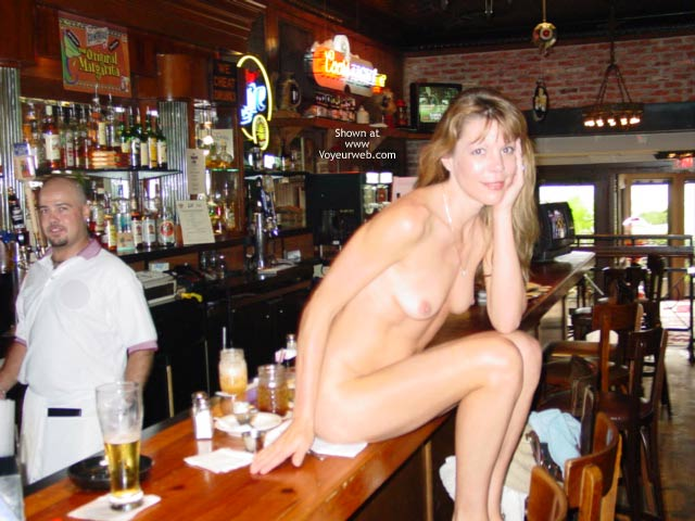 Nude On The Bar Ehibitionist Girl In Public