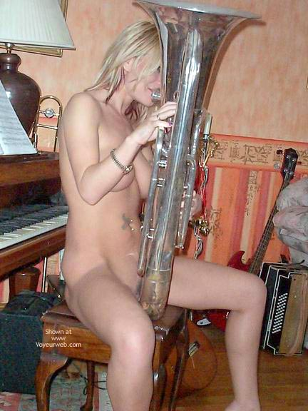 Pic #3 - Blowing A Large Instrument !