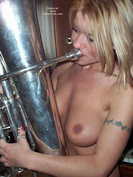 Pic #4 - Blowing A Large Instrument !