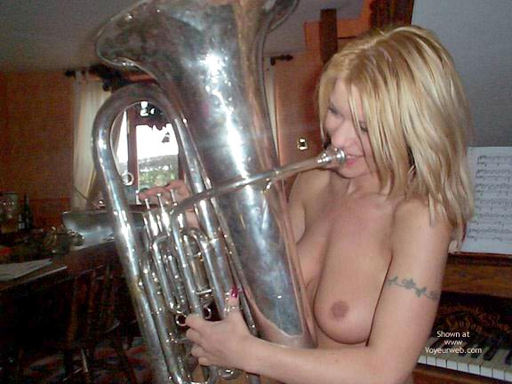 Pic #5 - Blowing A Large Instrument !