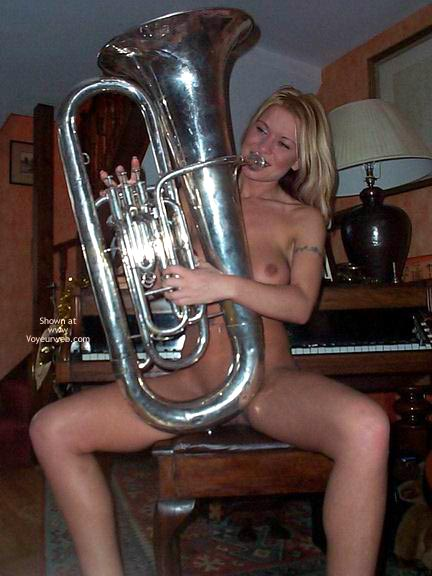 Pic #6 - Blowing A Large Instrument !