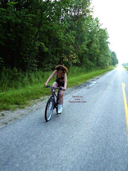 Pic #5 - Pantyless Bike Ride In Mini