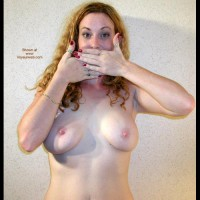 Medium Sized Boobs - Hard Nipple, Standing, Topless Girl