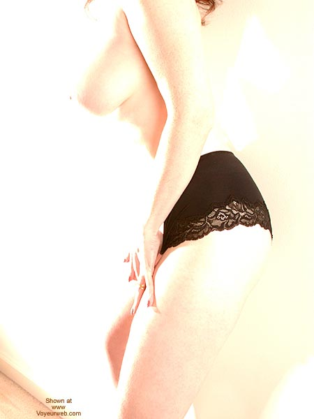 Pic #1 - Overexposed - Big Tits , Overexposed, Body Shot With Black Lace Panties, Big Tits