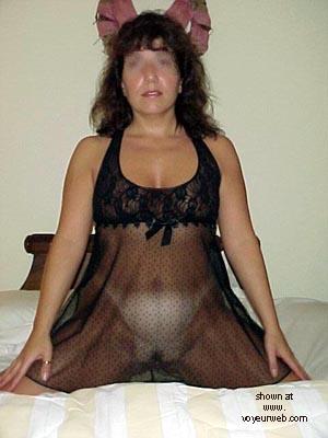 Pic #4 - Sweet Wife in Black Nighty