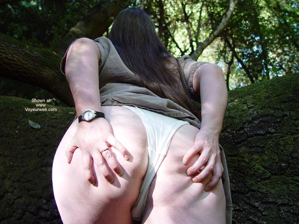 Pic #4 - Bbw Vicki Gets Naked In The Forest