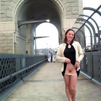 Emma on the Harbour bridge..