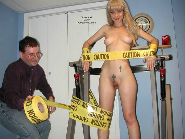 Pic #2 - Caution:  Bound Hottie