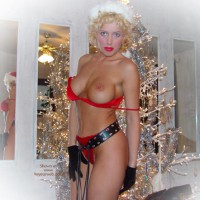 Christmas Nipple - Blonde Hair, Sexy Panties
