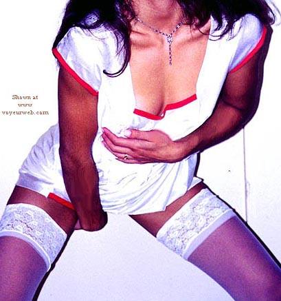 Pic #3 - White Stockings 1
