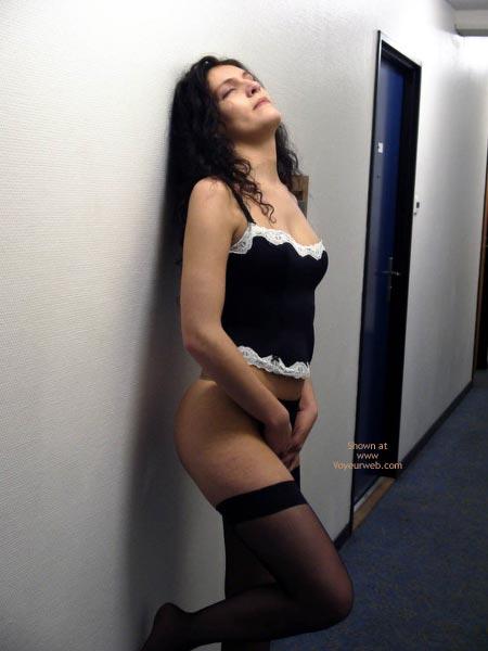 Pic #1 - Pauline ,Black Underwears In Passage