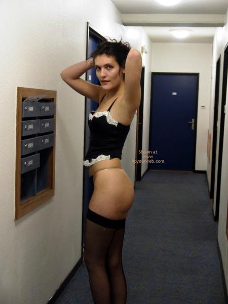 Pic #3 - Pauline ,Black Underwears In Passage