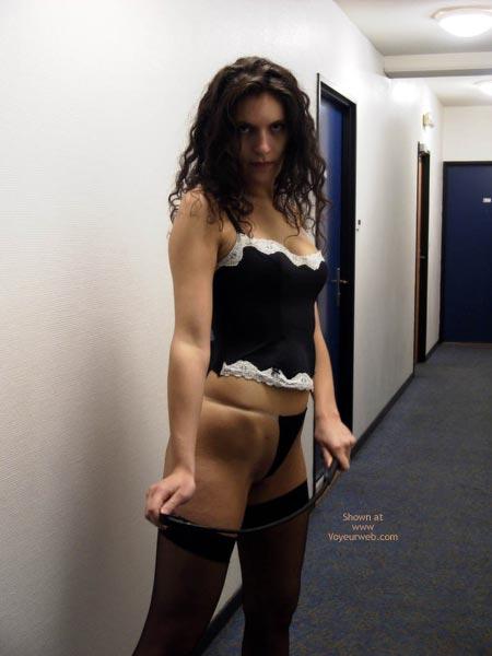 Pic #7 - Pauline ,Black Underwears In Passage