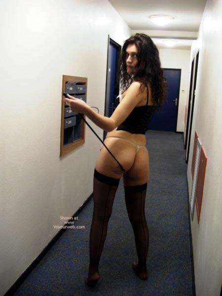 Pic #9 - Pauline ,Black Underwears In Passage