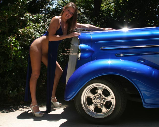 Pic #1 - Alyssa The Blue Dress And The 36 Chevy