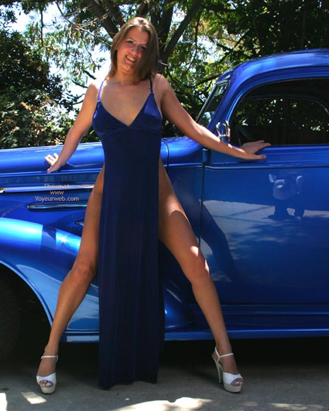 Pic #2 - Alyssa The Blue Dress And The 36 Chevy