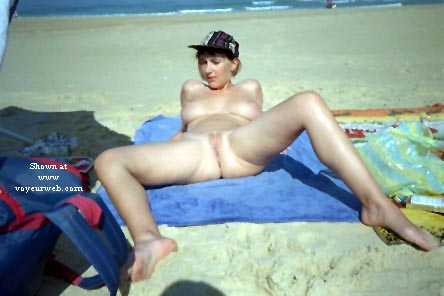 Pic #8 - My wife Eve on the beach