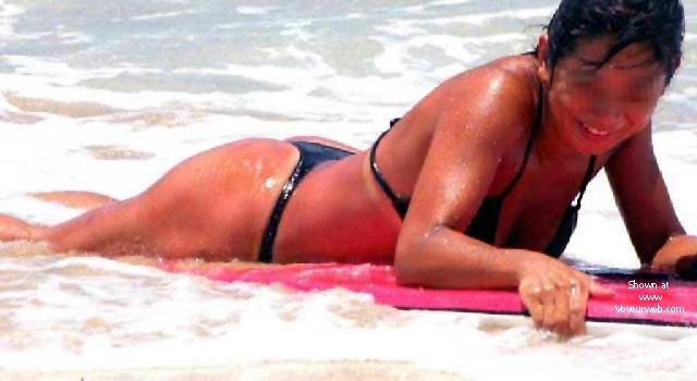 Pic #3 - My Wife Mayumi on the Beach