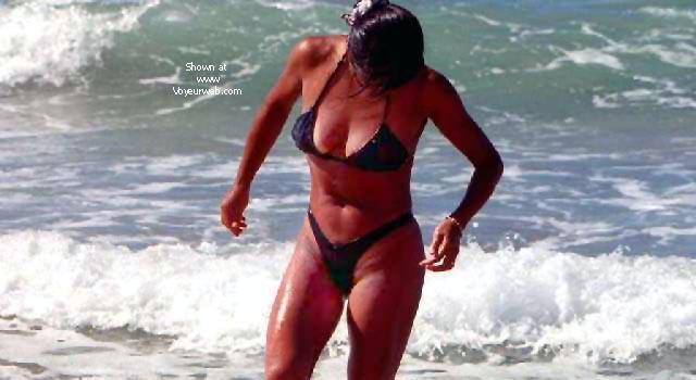 Pic #6 - My Wife Mayumi on the Beach