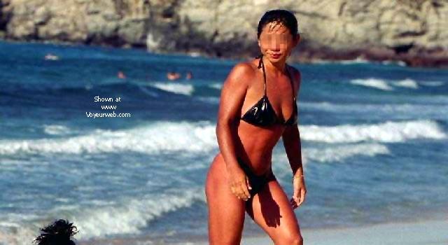 Pic #7 - My Wife Mayumi on the Beach