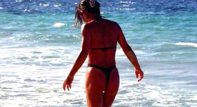 Pic #8 - My Wife Mayumi on the Beach