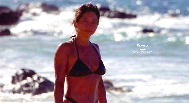 Pic #9 - My Wife Mayumi on the Beach