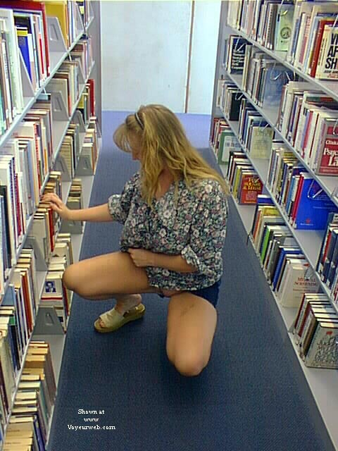 Pic #2 - Amy at the library and B.O.B.