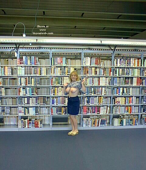 Pic #4 - Amy at the library and B.O.B.