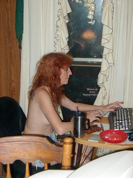 Pic #3 - ChooChoo  fun at the computer