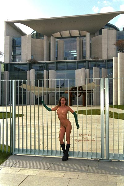Pic #1 - Nude In Public - Boots, Nude In Public, Standing , Nude In Public, Standing, Long Gloves, Black Boots, Long Gloves And Fmbs, Naked In Public, Nude On Gates