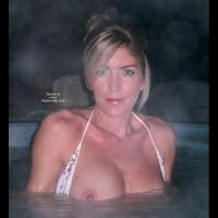 Flashing In The Hot Tub - Bikini, Looking At The Camera