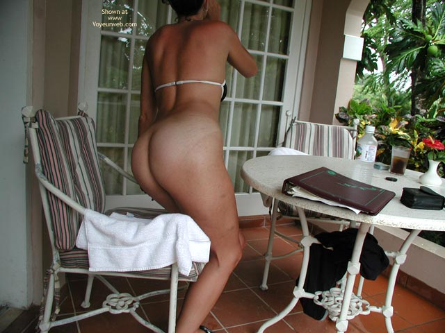 Pic #3 - Trish The Dish -Strip Poker Ouside At Resort