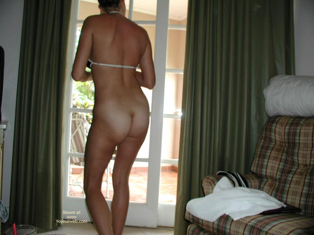 Pic #7 - Trish The Dish -Strip Poker Ouside At Resort