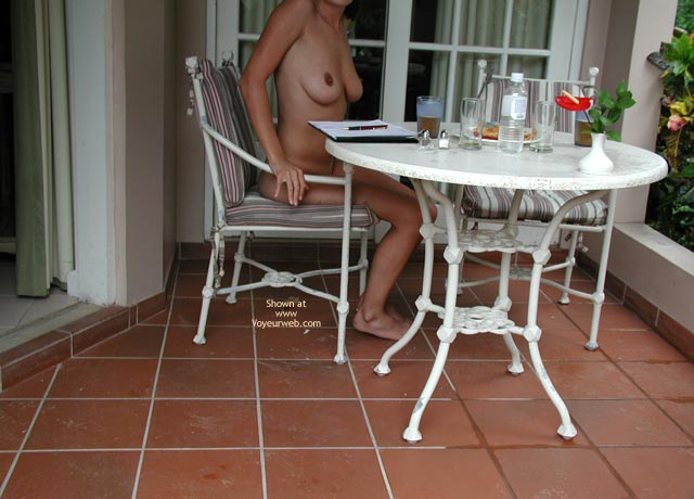 Pic #8 - Trish The Dish -Strip Poker Ouside At Resort