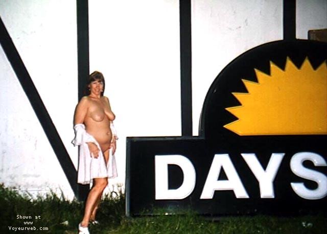 Pic #2 - Purple Patty outside Days Inn