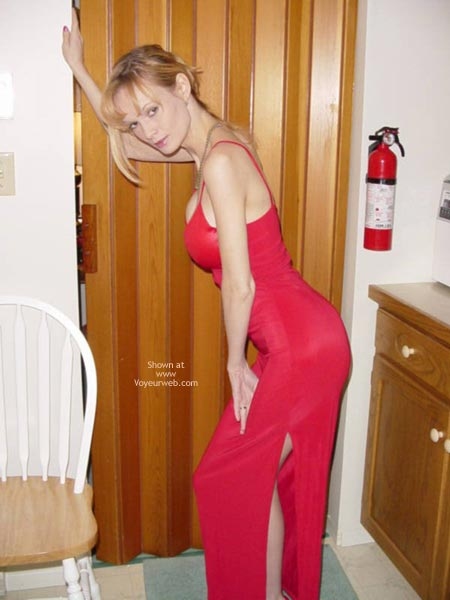 Pic #1 - Sexy Red Dress & Heels
