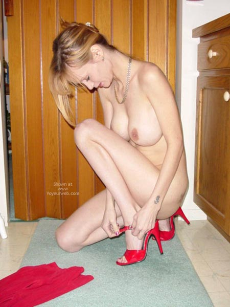 Pic #9 - Sexy Red Dress & Heels
