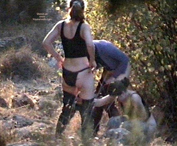 Pic #5 - 3 Voyeured Peeing Girl