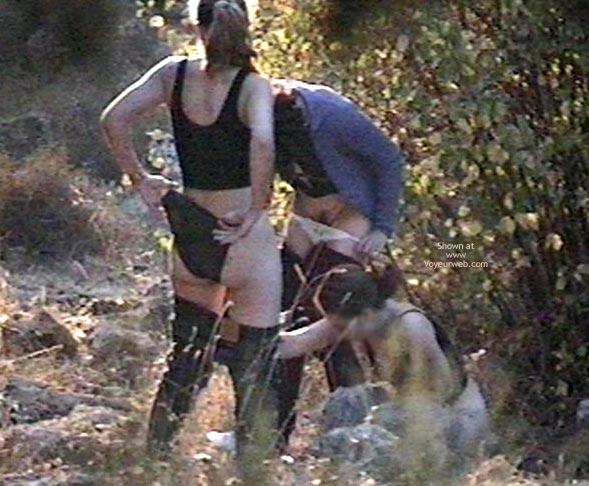 Pic #6 - 3 Voyeured Peeing Girl