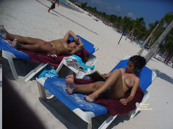 Pic #1 Perky Breasts On The Beach