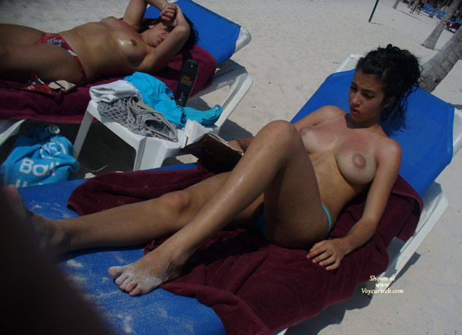 Pic #3 - Perky Breasts On The Beach