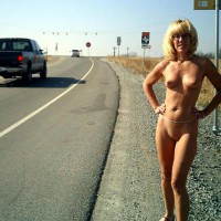 Naked On Roadside