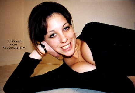 Pic #3 - Proud of her 19yo breasts
