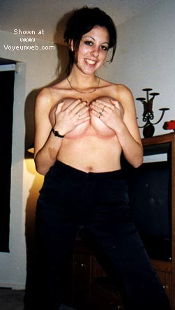 Pic #6 - Proud of her 19yo breasts