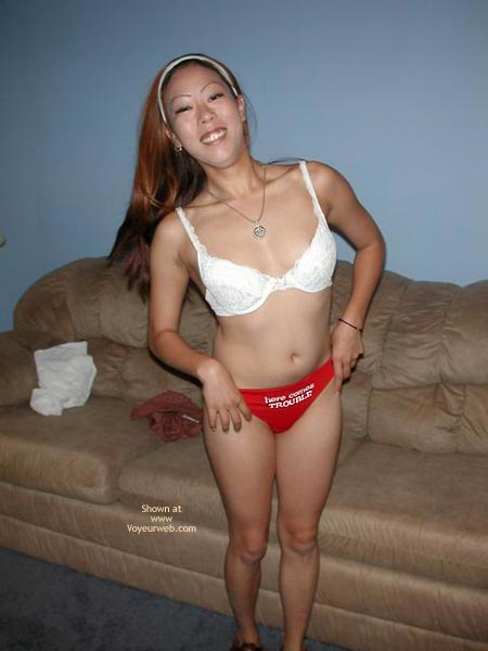 Pic #5 - Asian Hottie Stripping